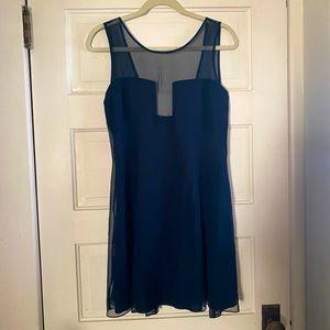 Delicate Mara Hoffman Navy Dress Sheer Overlay
